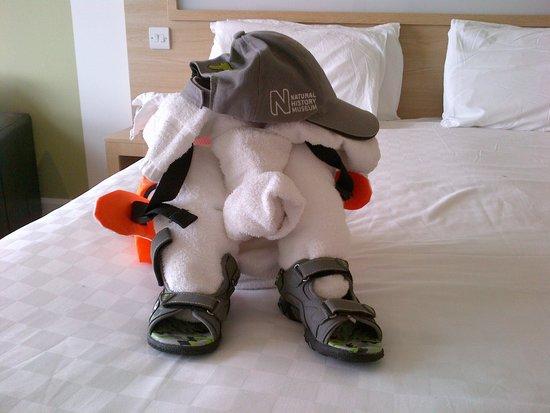 Butlins Shoreline Hotel: Elephant with a rucksack