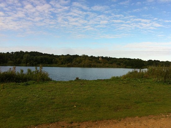 Whitlingham Broad Campsite: view over lake
