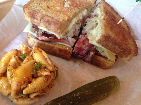 DI Prato's: Delicious Sailor' Sandwich with pasta salad!