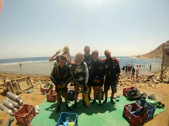 Poseidon Divers : Diving at the Blue Hole, Dahab August, 2014