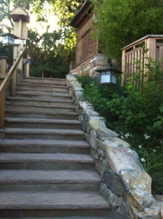 ten thousand waves : Steps leading up to the spa! There are 91 total!