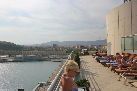 Eurostars Grand Marina Hotel: A view from the rooftop patio