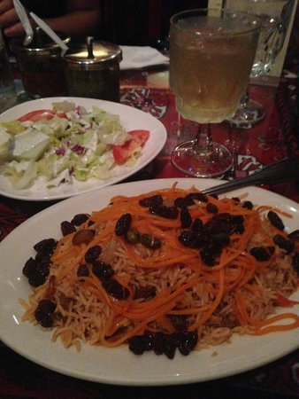 Ariana Afghan Kabab Restaurant: kabuli pulao
