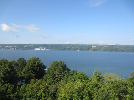 Finger Lakes Waterfall Resort: view from the deck out side of room 31