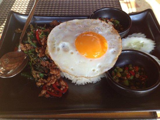 Zazen Boutique Resort & Spa: Breakfast hot menu item (included in buffet)