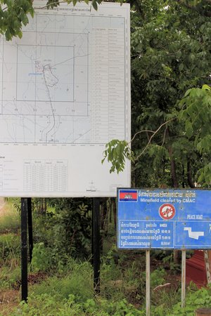 Koh Ker Temple: Prasat Pram area has been cleared of mines.