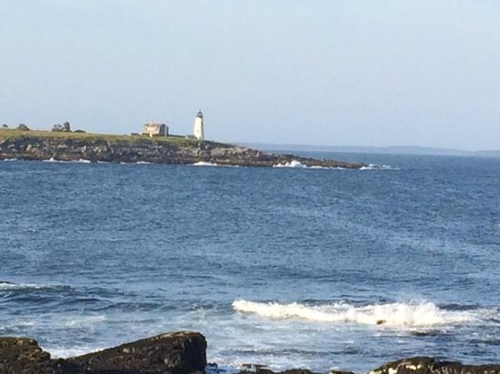 Biddeford Pool, ME: Wood Island Light from Bird Sanctuary Point with iphone 5s zoomed in