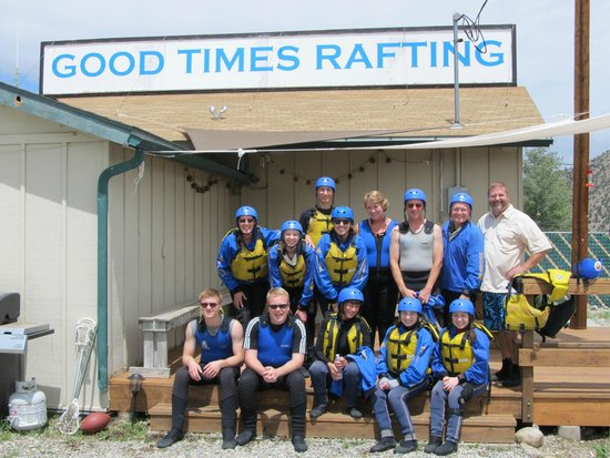 Good Times Rafting: Suited up and excited!