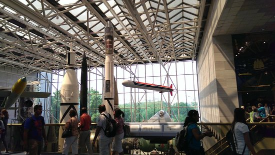 National Air and Space Museum: 2nd level main lobby view