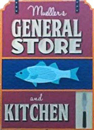 Mueller's Too: Mueller's General Store sign