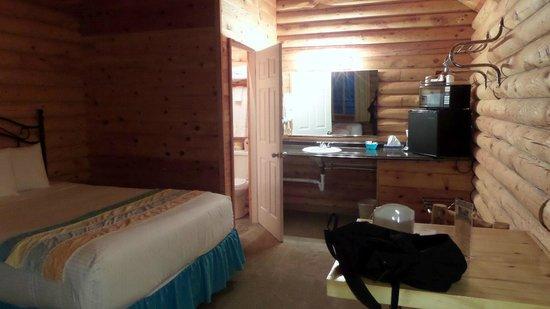 Bryce Canyon Log Cabins: Camera e lavandino