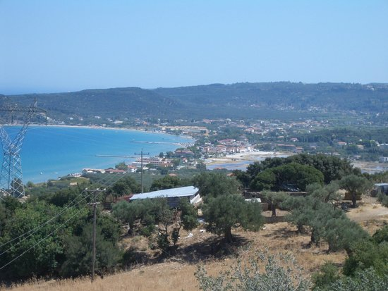 Roula Studios: Looking down over Alykes / Alykanas from the north