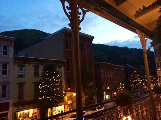 Inn at Jim Thorpe : View from the veranda on the 2nd floor of the Inn