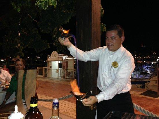 La Taverna GastroBar: Flaming Coffee!!!