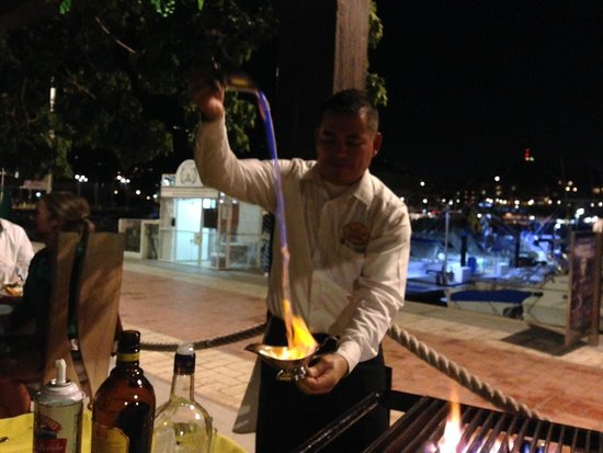 La Taverna GastroBar: Just a fire waterfall!!! So cool and tasted amazing!