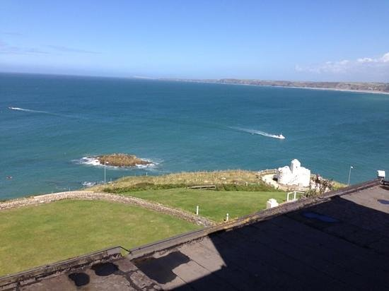 The Atlantic Hotel : From our room looking towards Watergate Bay