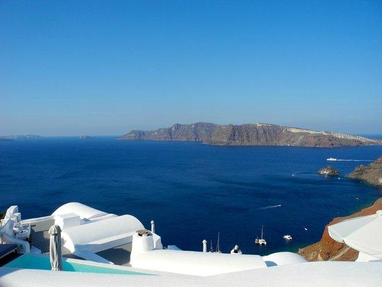 Katikies Hotel: view of Caldera, Oia, Santorini, Greece