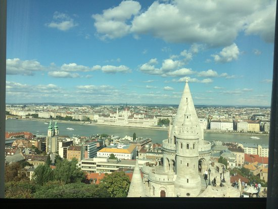 Hilton Budapest: View from our room in the day