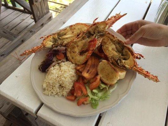Codrington, Barbuda: Lobster Meal