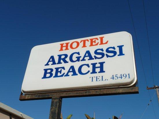 Argassi Beach Hotel : название отеля