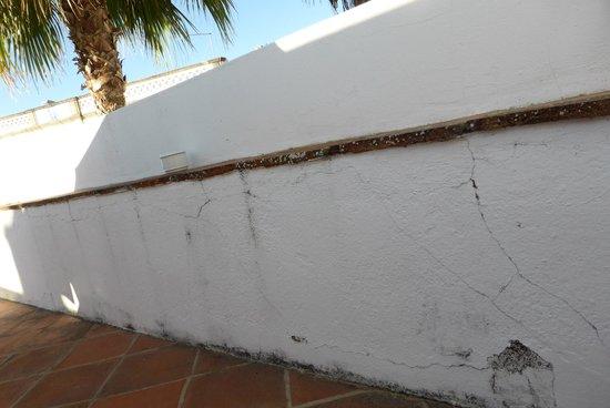 Casa de Estoi: mur de notre terrasse