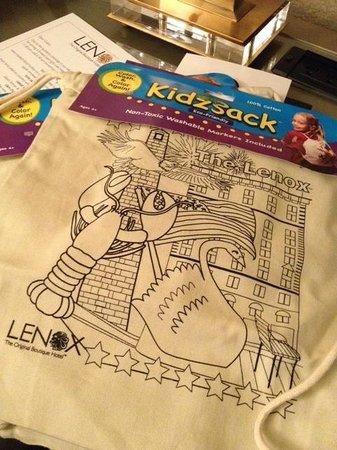 Lenox Hotel : Gift for kids