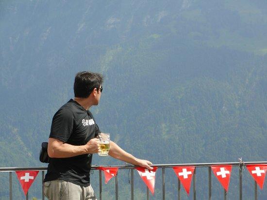 Harder Kulm: Vista das montanhas