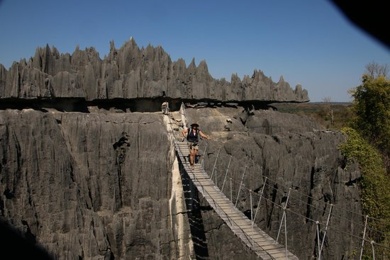 Tsingy de Bemaraha National Park, มาดากัสการ์: suspension bridge