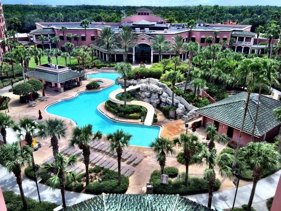 Caribe Royale Orlando: Beautiful pool view from the 7th floor
