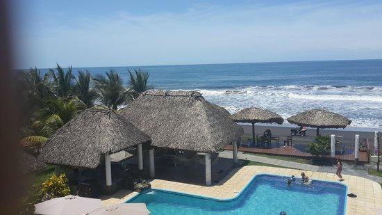 Hotel Hawaian Paradise: Esta es la vista que se tiene desde las habitaciones