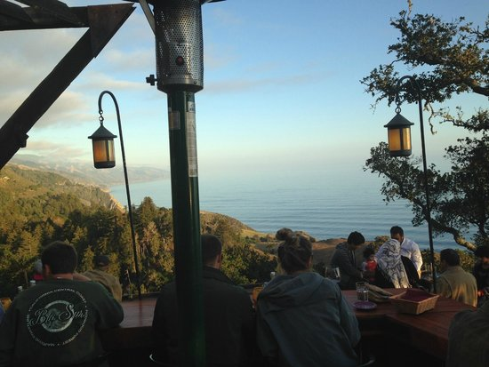 Nepenthe: the view from the outdoor seats
