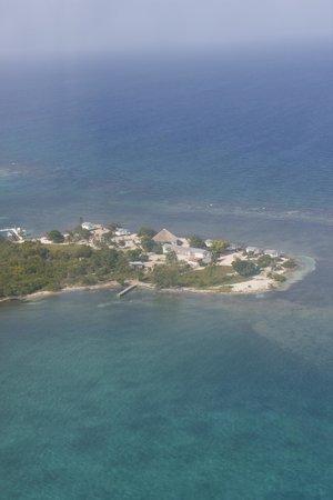 Blackbird Caye Resort: aerial view