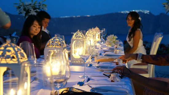 Andronis Luxury Suites: Wedding dinner on terrace