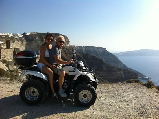 Andronis Luxury Suites: Traversing the island on quad