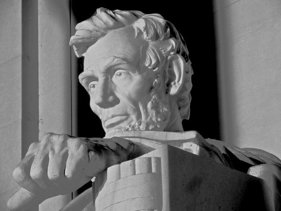 Lincoln Memorial : Lincoln in B&W