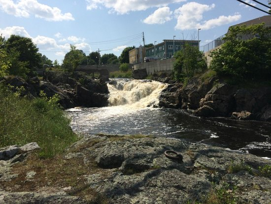 Machias, ME: Shot of the one of the falls