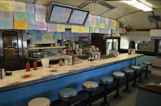 The counter at the Blue Benn Diner.  They have booths too.