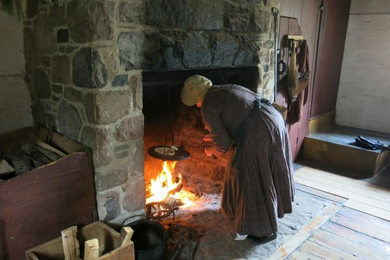 Pickering Museum Village: Open hearth cooking
