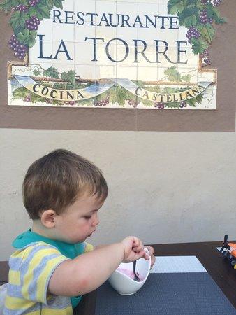 La torre de benahavis: My sons lovely free ice cream :-)