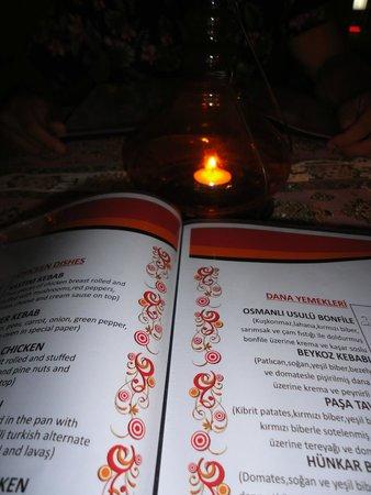 Hanedan BBQ Authantic Turkish Cuisine: Glimpse of the menu