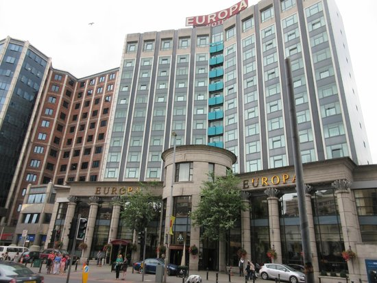 Europa Hotel - Belfast : The exterior of the Europa from Great Victoria Street