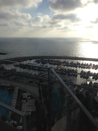 "Carlton Tel Aviv: View of the Marina & ocean from our ""Sea View""room"