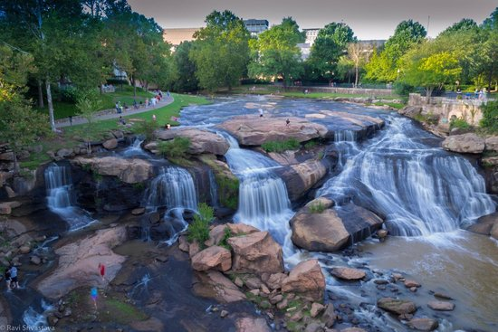 Falls Park on the Reedy : From the bridge