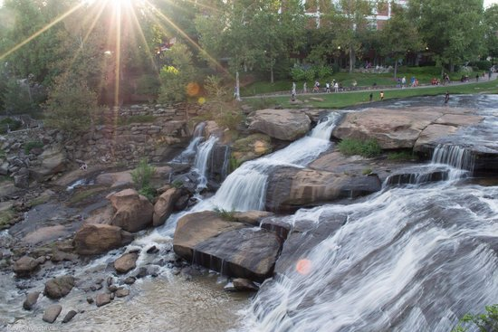 Falls Park on the Reedy : View from the other side