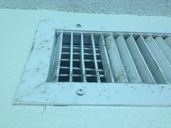 B Ocean Resort Fort Lauderdale: Mold around and on A/C vent