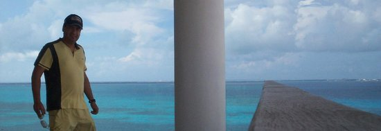 Grand Fiesta Americana Coral Beach Cancun: from the room  you can watch ISla Mujeres