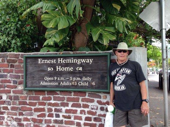 Maison d'Ernest Hemingway : Tired ol man.