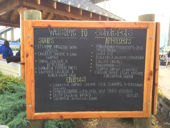 Schaefer's Canal House: Schaefer's Outside Lounge Menu Board