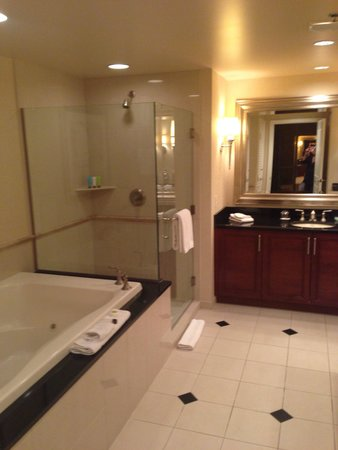 spa and separate shower