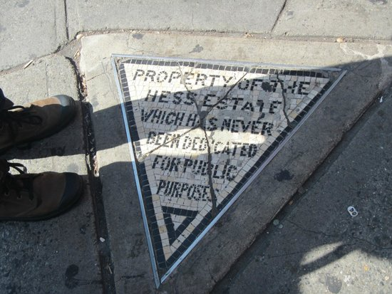 Real New York Tours : Very cool history behind this little plaque!